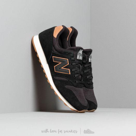 new balance 373 suede black