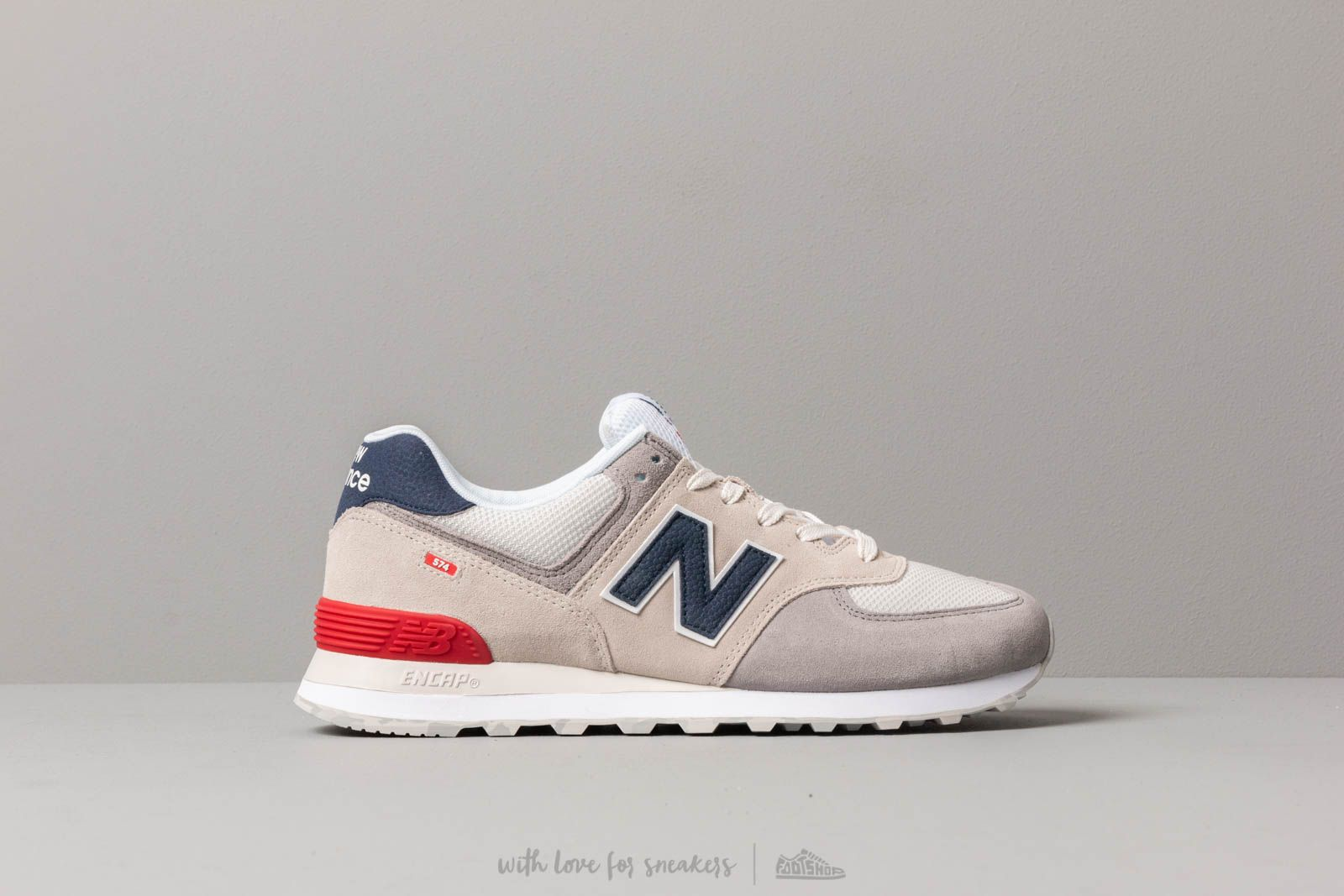 shoes New Balance 574 Grey/ Blue/ Red
