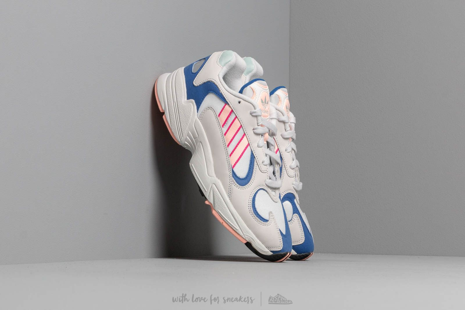 37d9513ecdf7cb adidas Yung-1 Crystal White/ Clear Orange/ Clear Royal at a great price