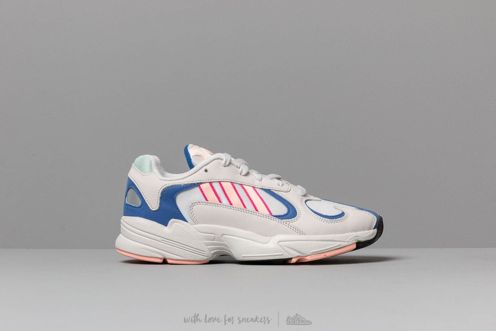 sports shoes 910cf 332db adidas Yung-1 Crystal White Clear Orange Clear Royal at a great price