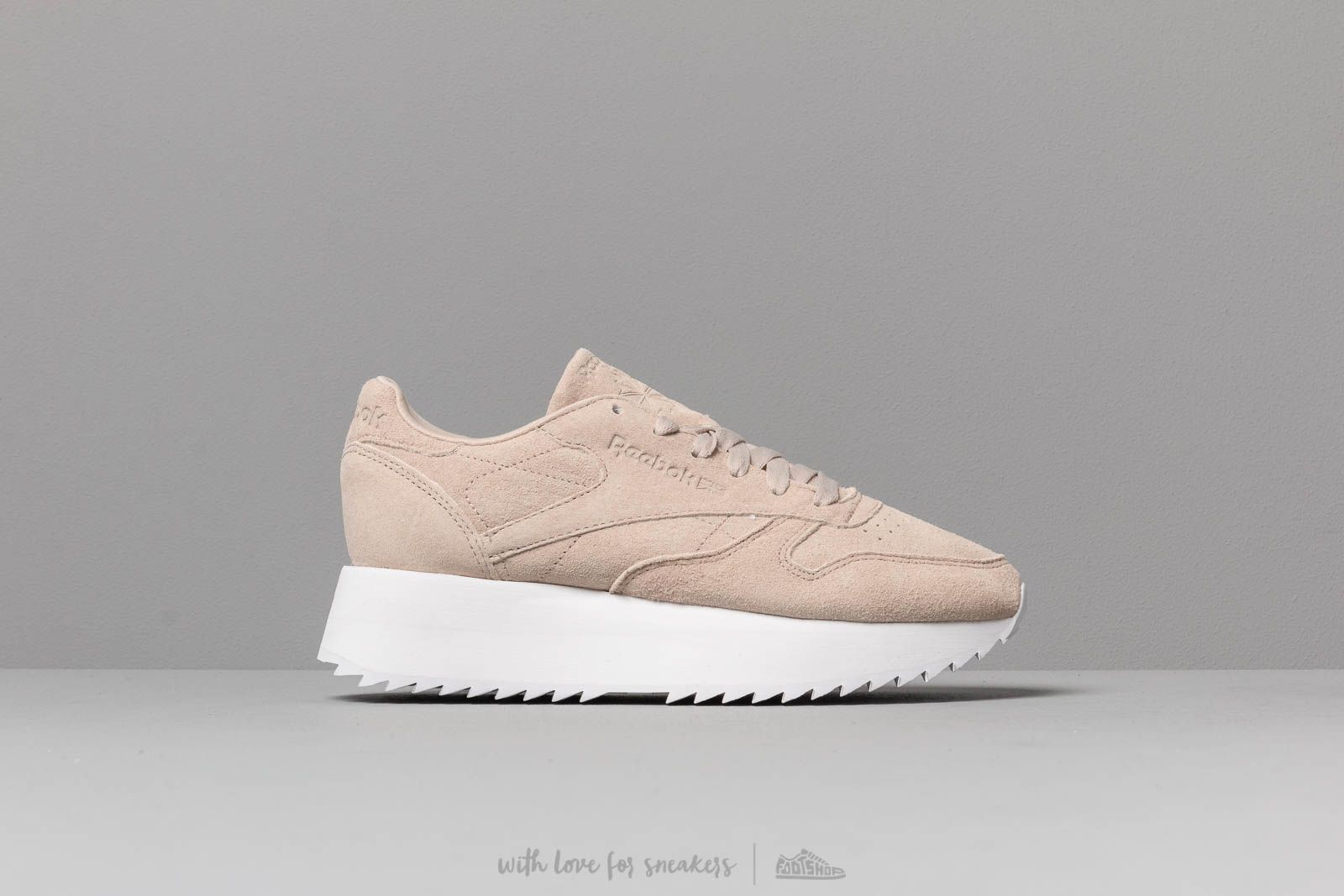 b42a71c38e6 Reebok Classic Leather Double Light Sand  White at a great price 106 € buy  at