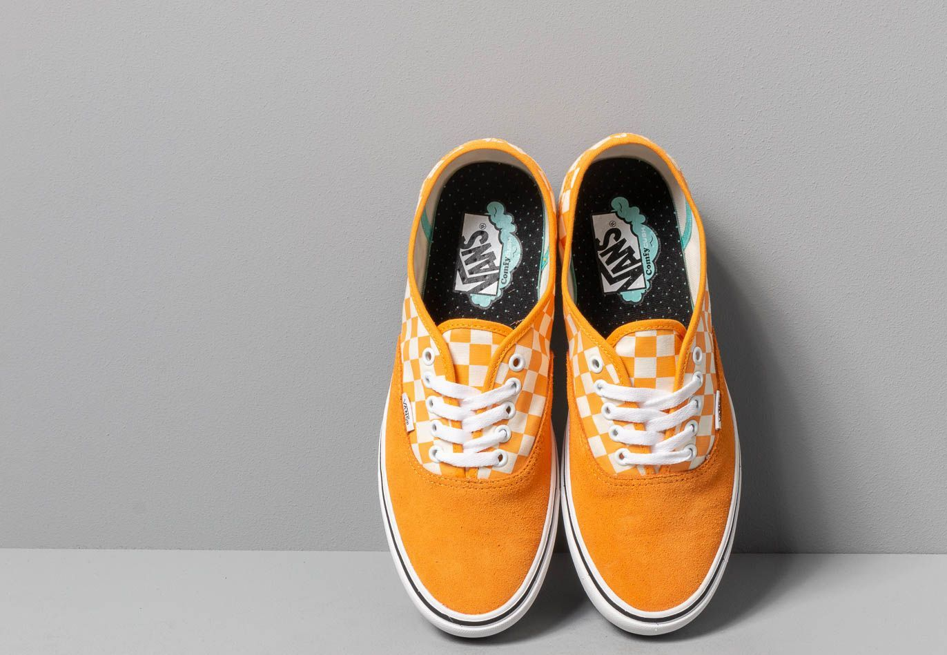 Vans ComfyCush Authentic (Checker) Zinnia/ True Wht, Orange