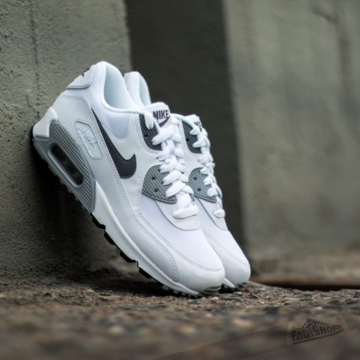 Nike WMNS Air Max 90 Essential WhiteCool Grey Wolf Grey Black | Footshop