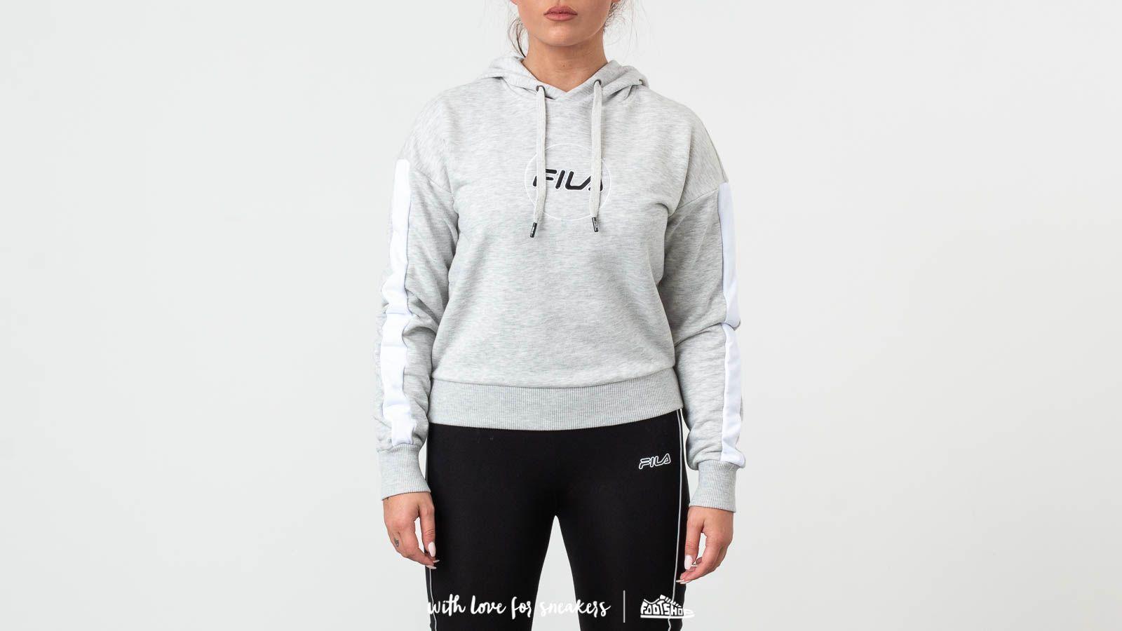 Hoodies and sweatshirts FILA Riva Longsleeve Hoodie Light Grey/ Melange Bros