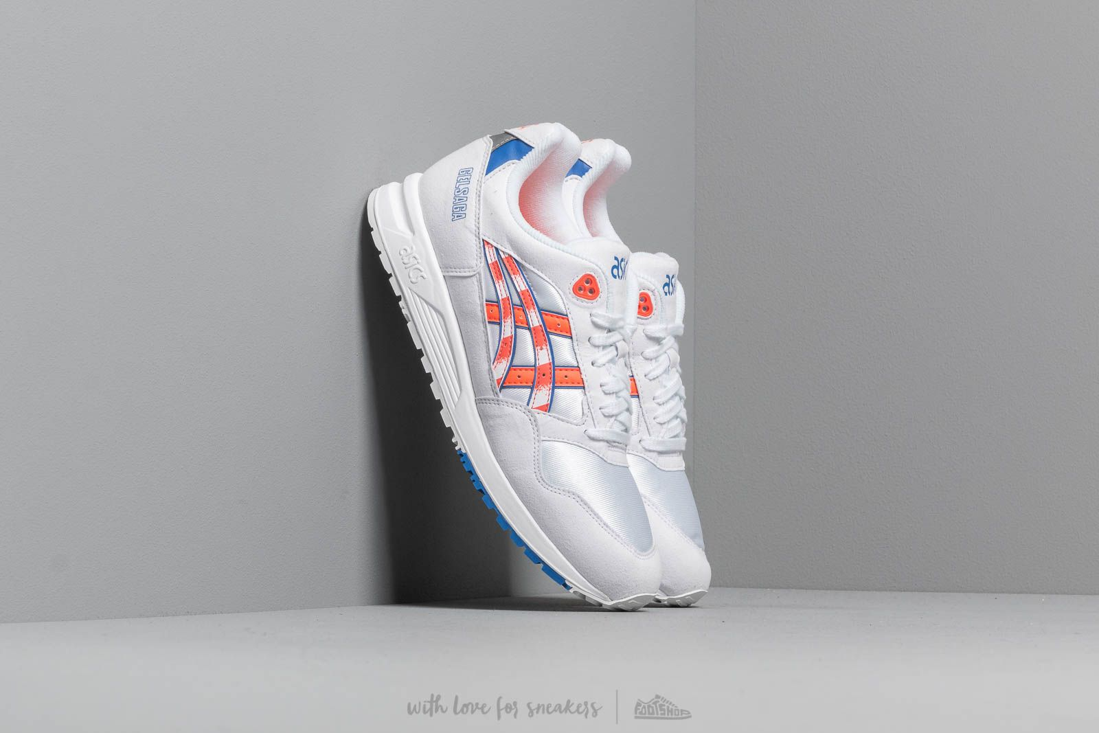 Men's shoes Asics Gelsaga White/ Flash Coral