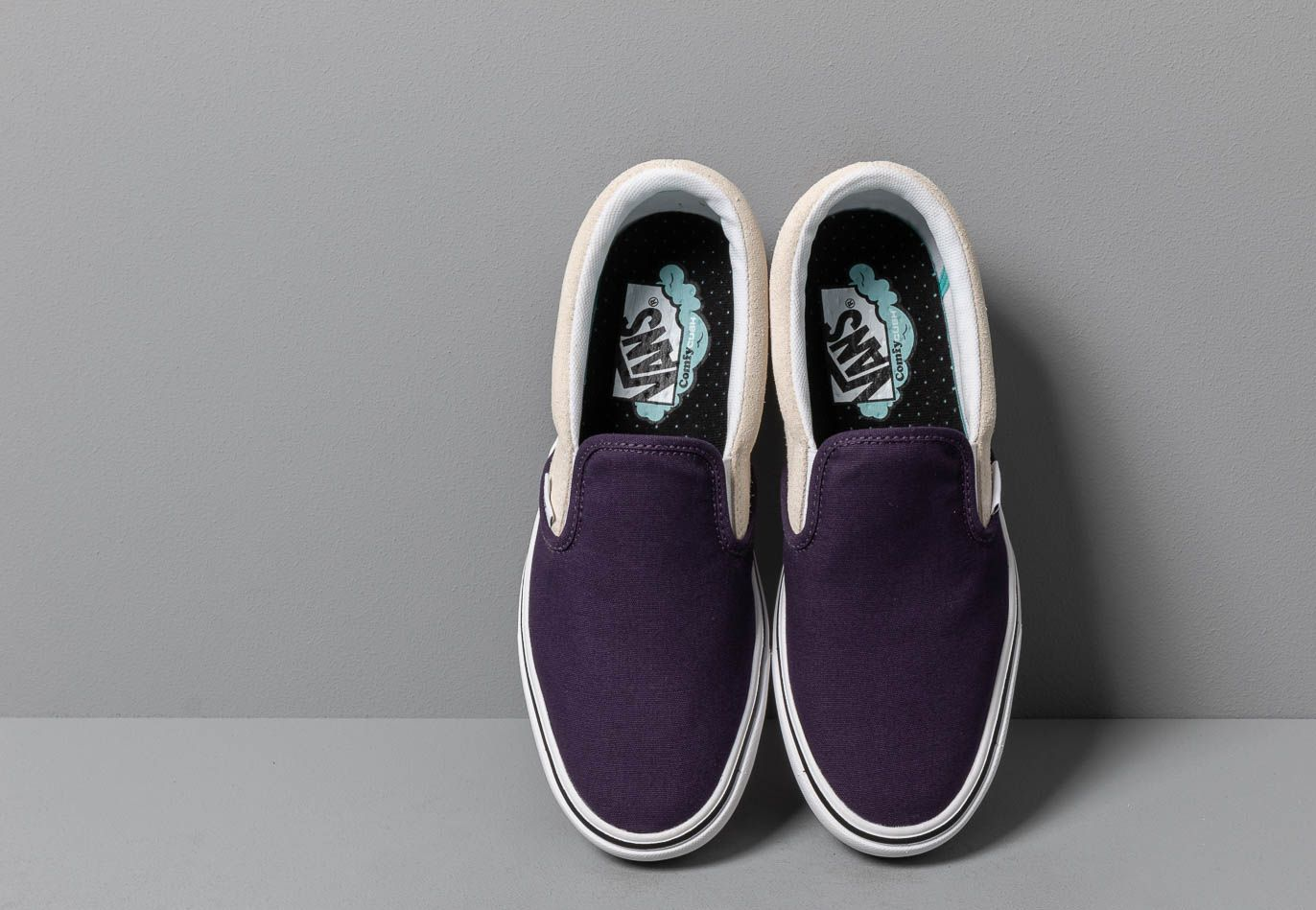 Vans ComfyCush Slip-On (Checkerboard) Mysterioso, Black