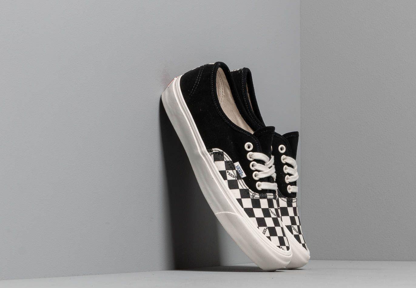 Vans OG Authentic LX (Suede/ Canvas) Black/ Checkerboard EUR 47
