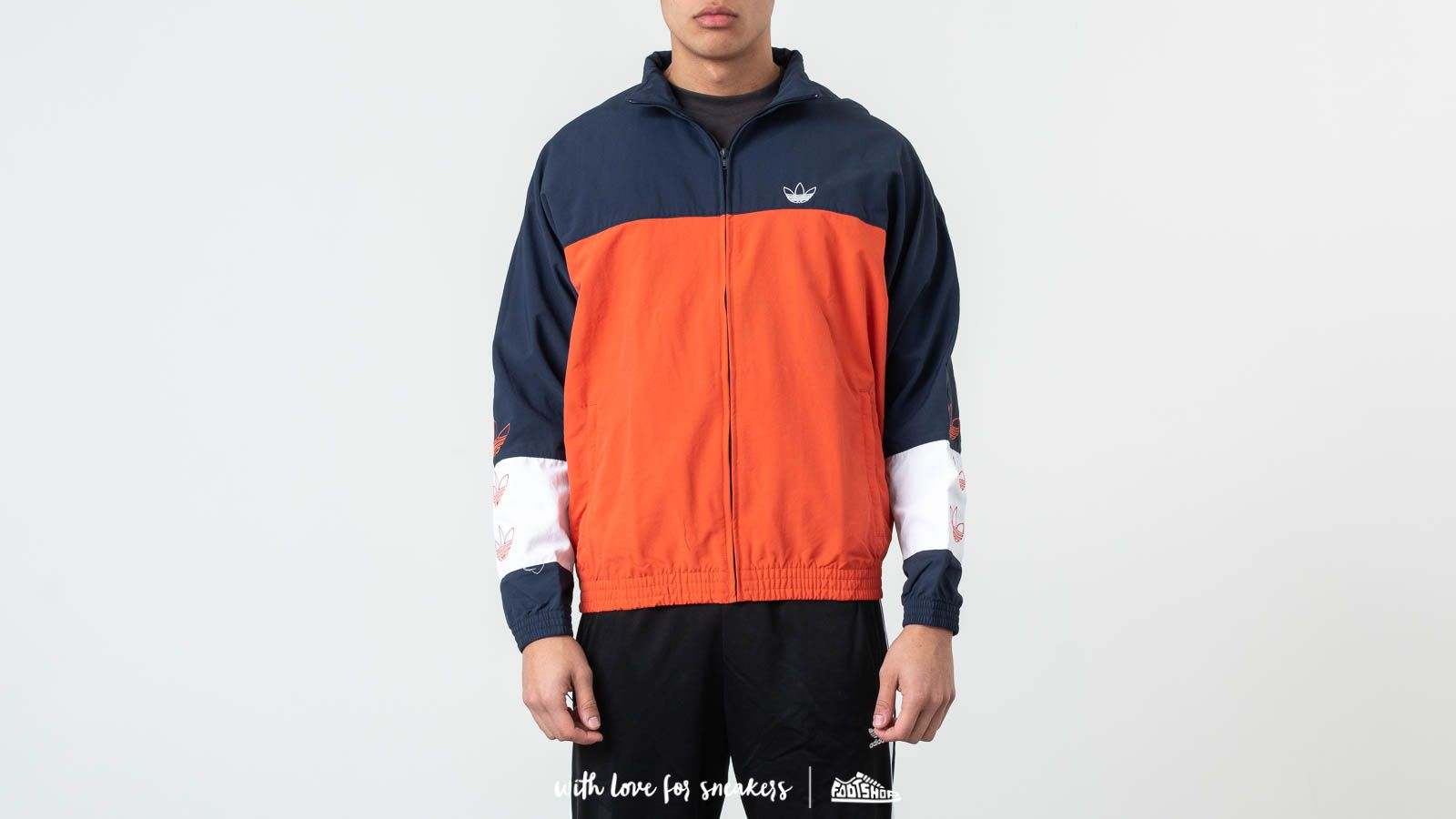 Jackets and Coats adidas Tourney Warm-Up Track Top Raw Amber/ Collegiate Navy