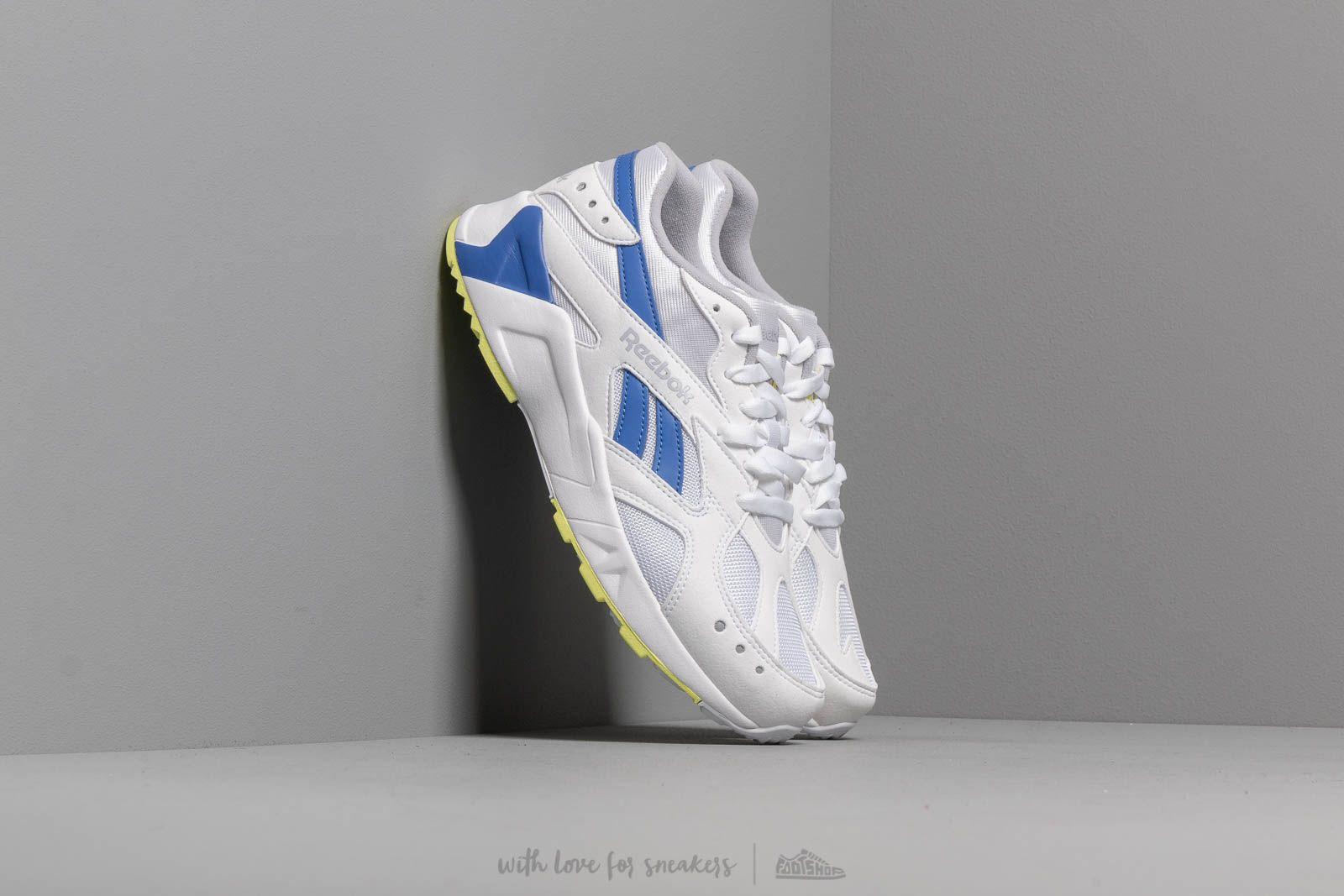 Men's shoes Reebok Aztrek White/ Cold Grey/ Cobalt/ Lime