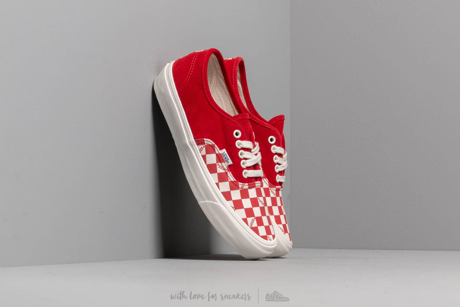 Herenschoenen Vans OG Authentic LX (Suede/ Canvas) Racing Red
