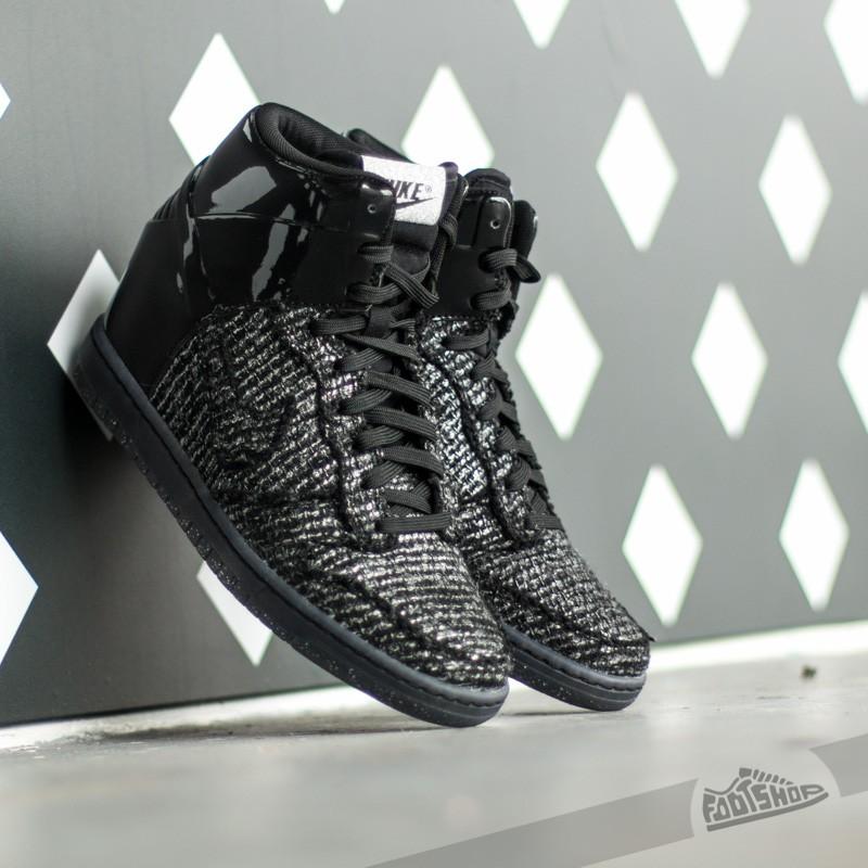online retailer ed97b 3dcd3 Nike Wmns Dunk Sky Hi VT QS Black Metalic Silver