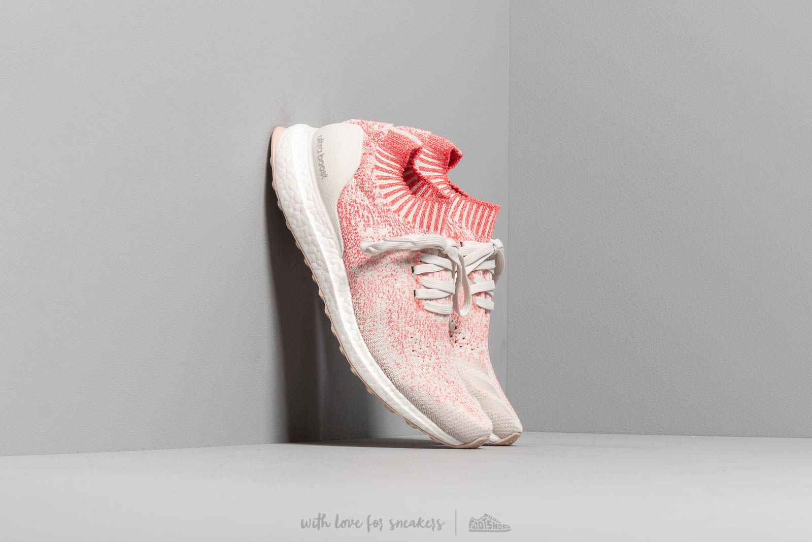 3bfeed1100709 adidas UltraBOOST Uncaged W Raw White  Raw White  Shock Red at a great price