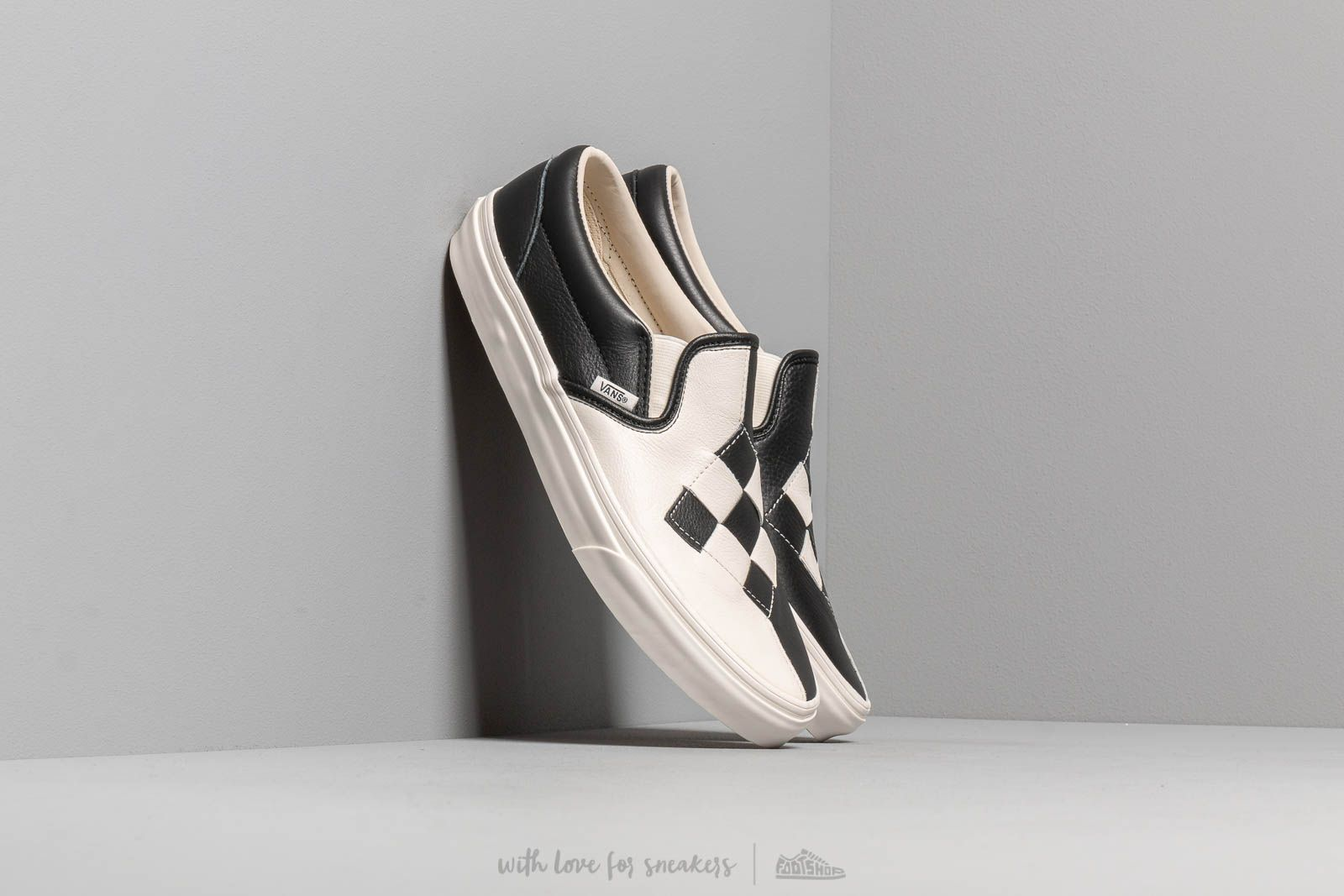 Scarpe e sneaker da uomo Vans Classic Slip-On (Woven Leather) Checkerboard