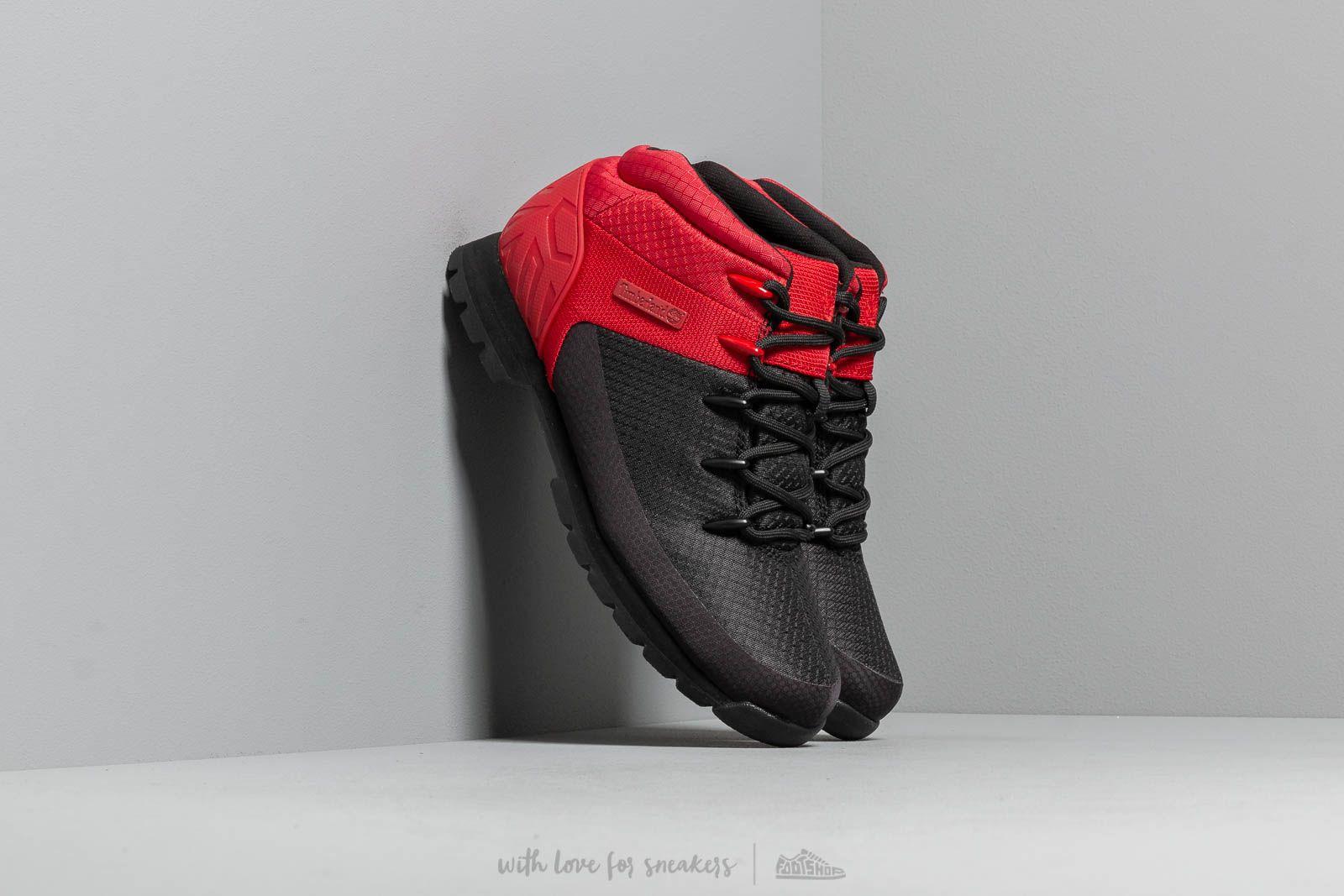 Timberland Euro Sprint Mid Hiker Black/ Red za skvelú cenu 121 € kúpite na Footshop.sk