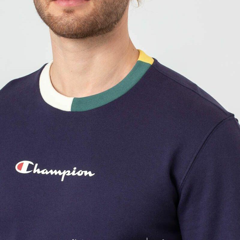 Champion Logo Crewneck Navy, Blue