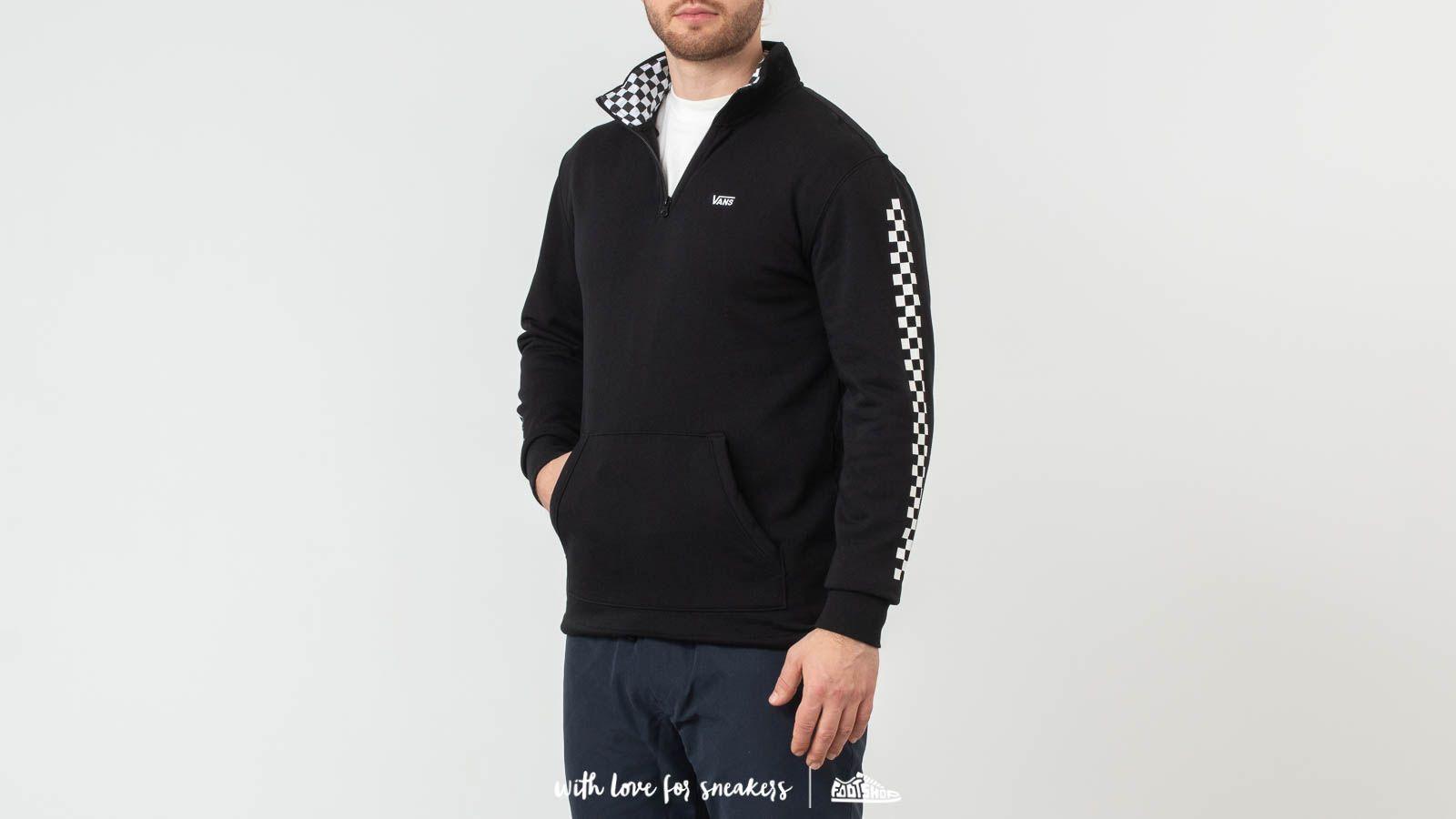Mikiny Vans Versa Qzp Sweatshirt Black/ Checkerboard