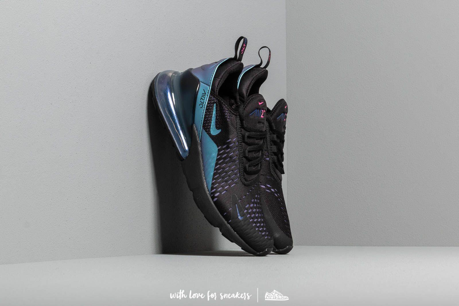 862becb19a962 Nike Air Max 270 Black/ Laser Fuchsia-Regency Purple | Footshop
