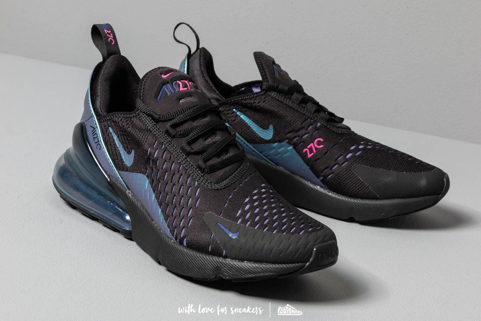 Nike Air Max 270 (BLACKLASER FUCHSIA REGENCY PURPLE