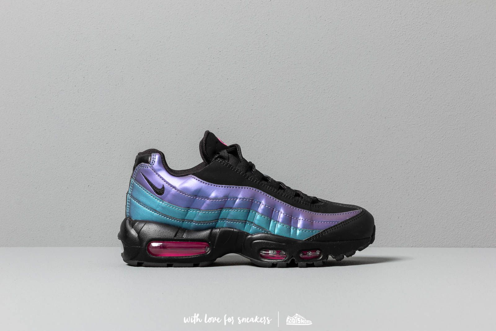 Nike Air Max 95 Premium Black Black Laser Fuchsia Footshop  Footshop