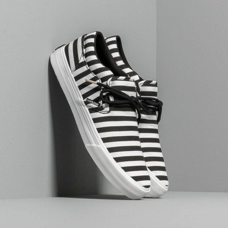 Supra Cuba Black/ White Stripe EUR 45