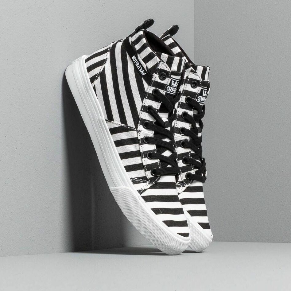 Supra Stacks Mid Black/ White Stripe EUR 42.5