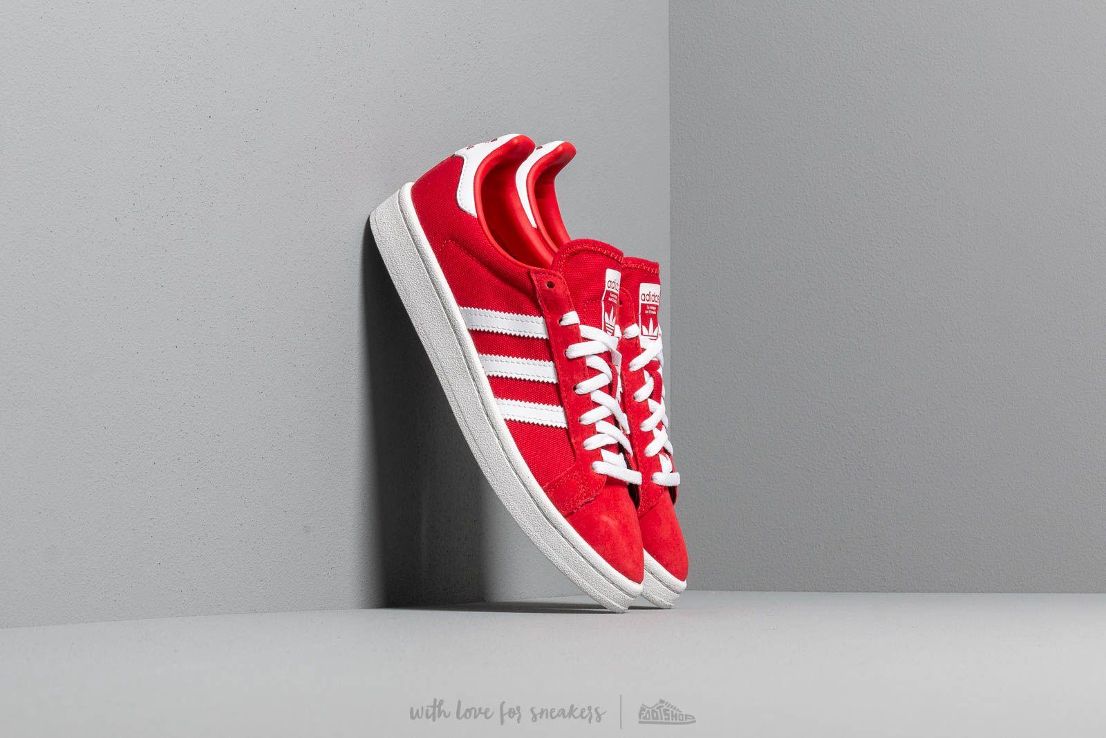 Dámské tenisky a boty adidas Campus W Scarlet/ Ftw White/ Crystal White