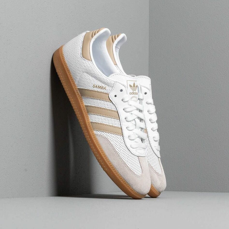 adidas Samba OG Ftw White/ Raw Gold/ Grey One EUR 42 2/3