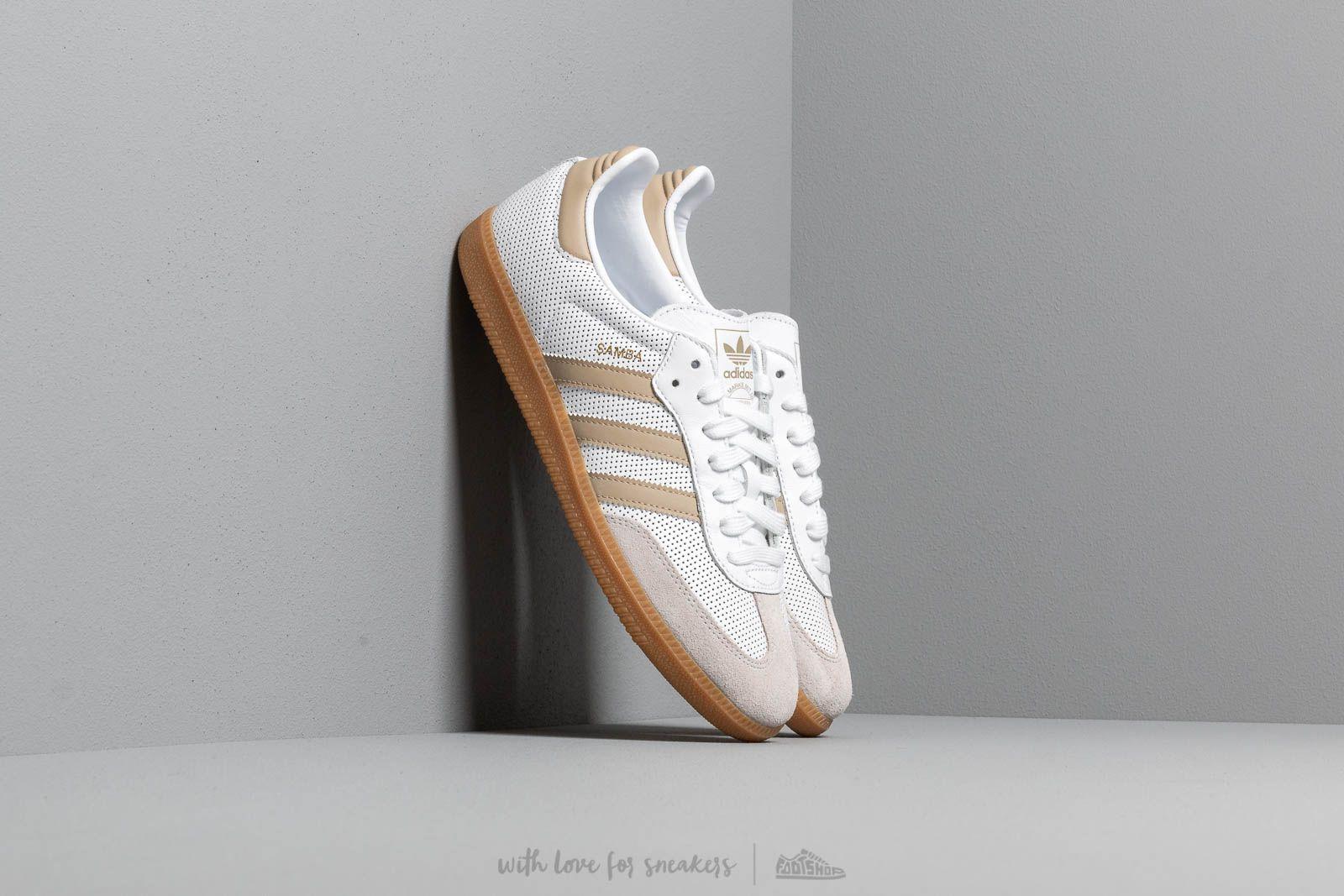 Pánské tenisky a boty adidas Samba OG Ftw White/ Raw Gold/ Grey One