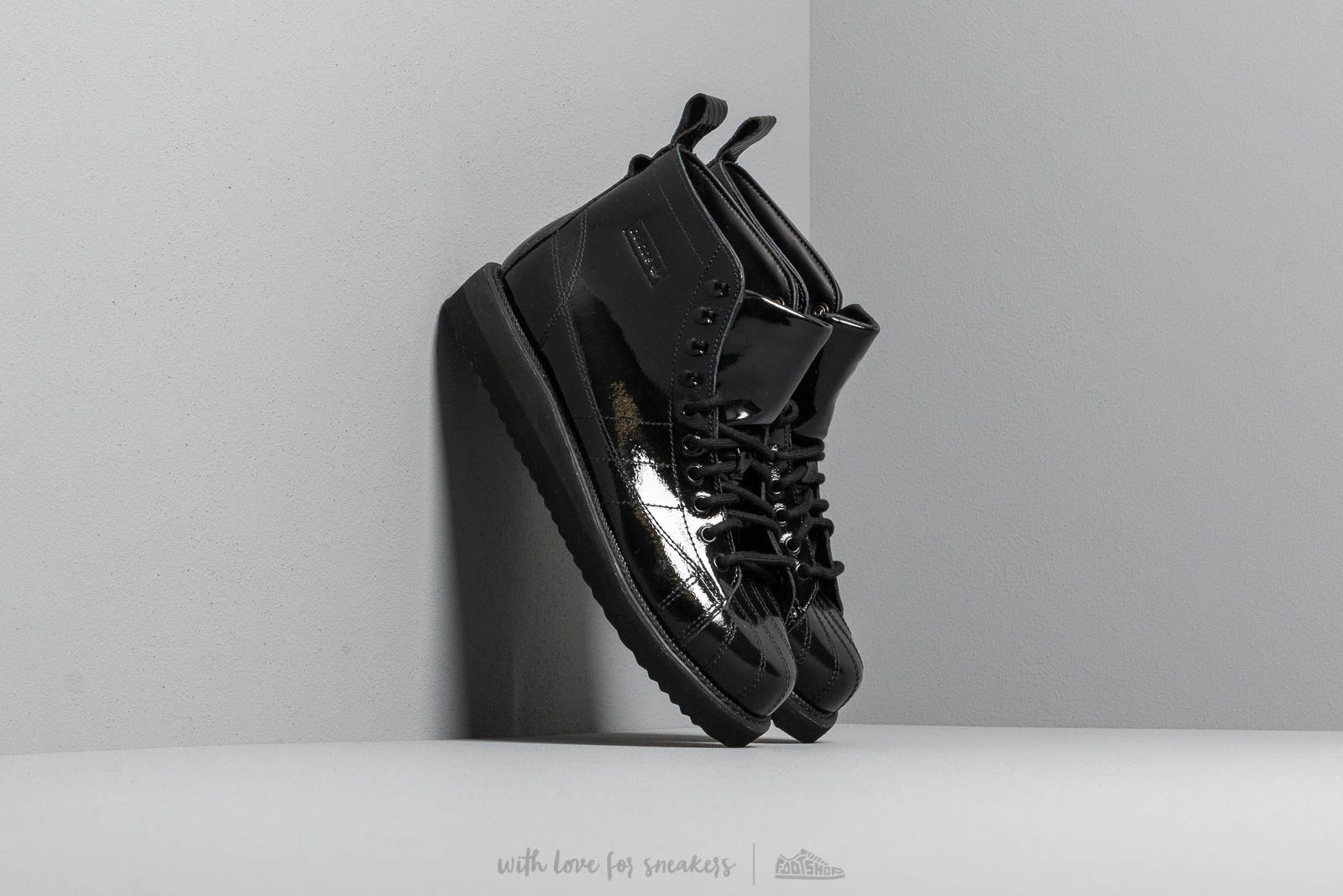 Women's shoes adidas Superstar Boot W Core Black/ Core Black/ Cpurpl