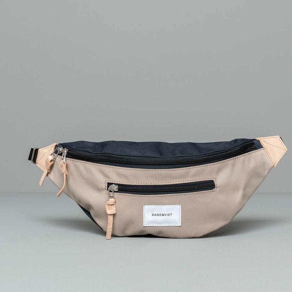 Sandqvist Urban Outdoor Aste Fanny Pack Multi Beige Blue