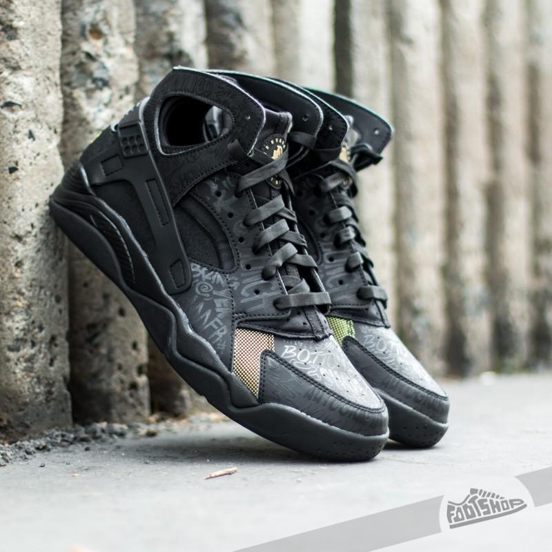 14e427d01522 Nike Air Flight Huarache Premium QS Black  Black-Metallic Gold ...