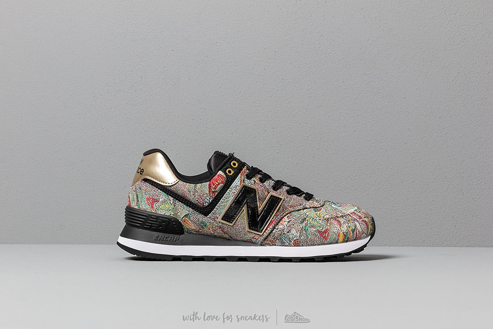 96f41e3d245 New Balance 574 Sweet Nectar  Black  Classic Gold at a great price £76