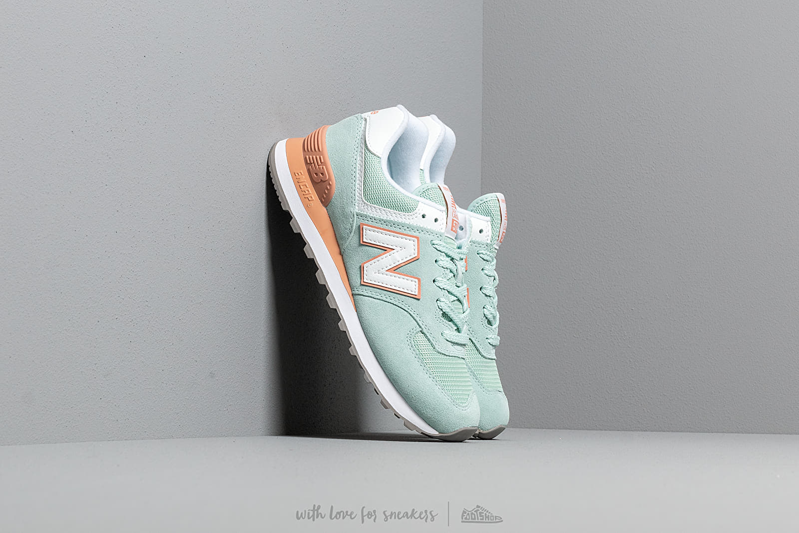 5f514dd692b7 New Balance 574 White Agave/ Faded Copper at a great price £76 buy at