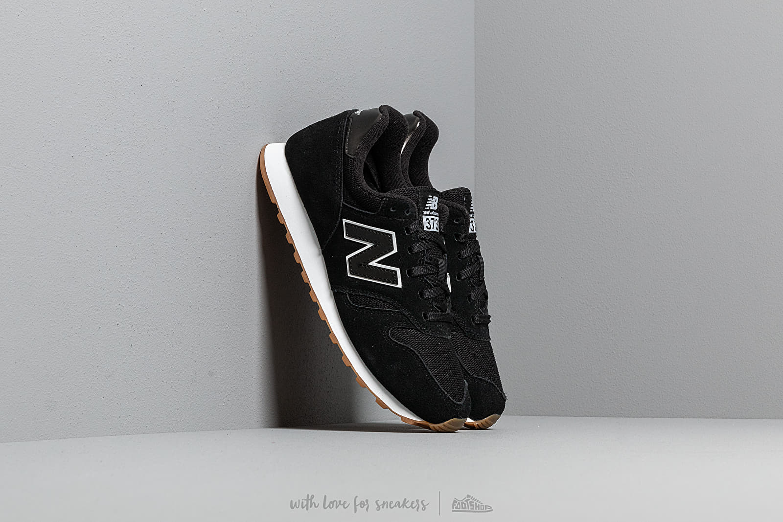 sports shoes a6dff d2b56 New Balance 373 Black/ White/ Gum | Footshop