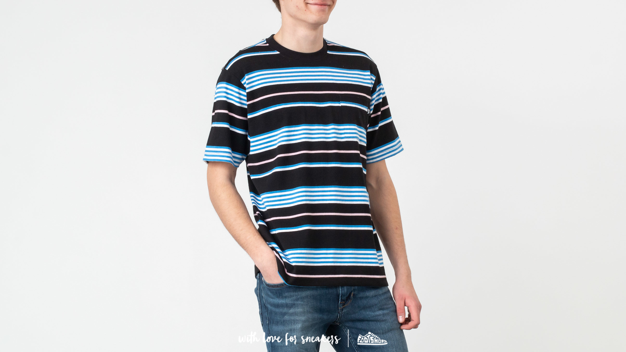 3af682e7aa Stüssy Thomas Stripe Crew Tee Black at a great price £57 buy at Footshop