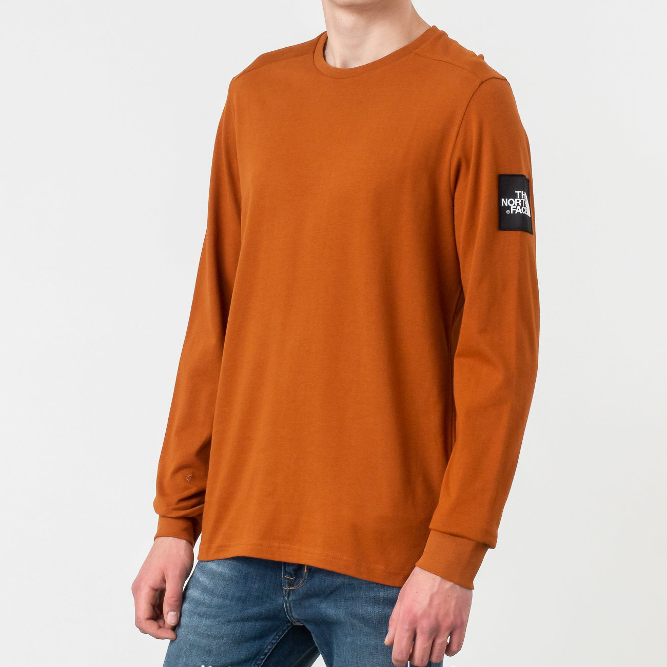 The North Face Longsleeves Fine 2 Tee Caramel Cafe, Brown