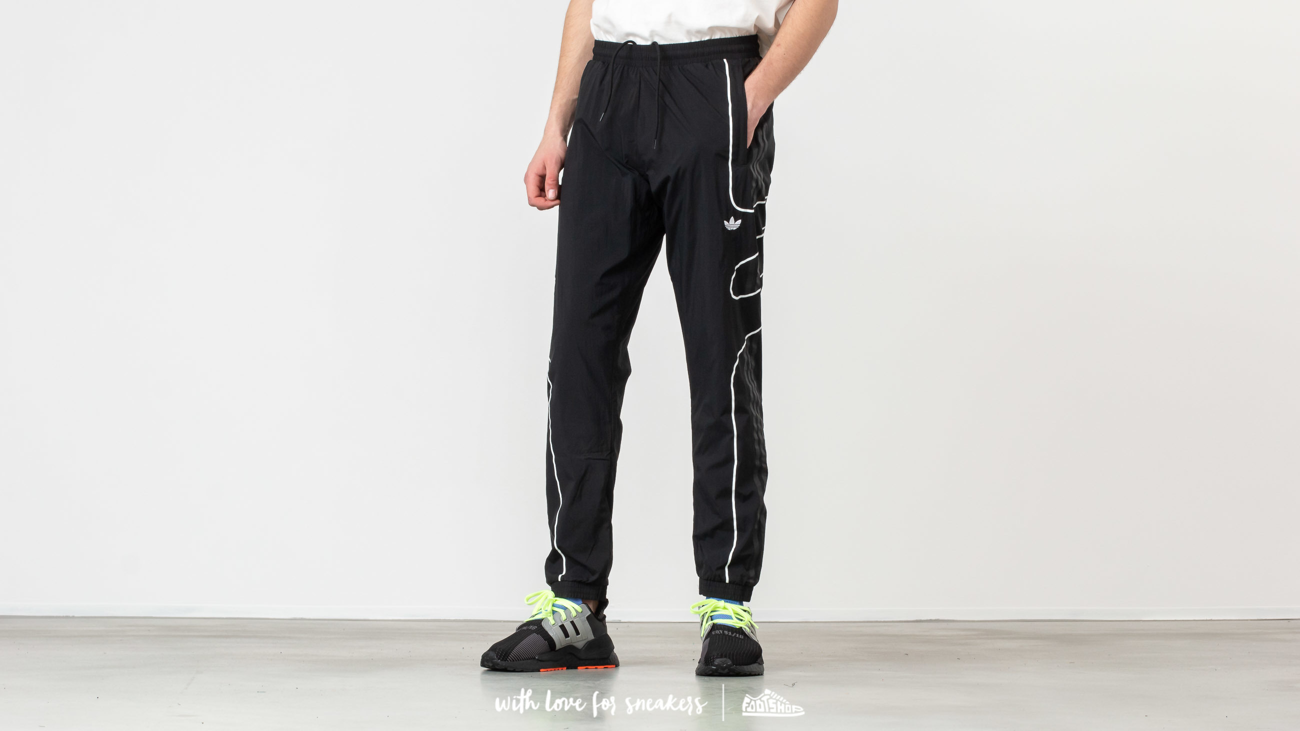 Pants and jeans adidas Originals Flamestrike Woven Track Pants Black