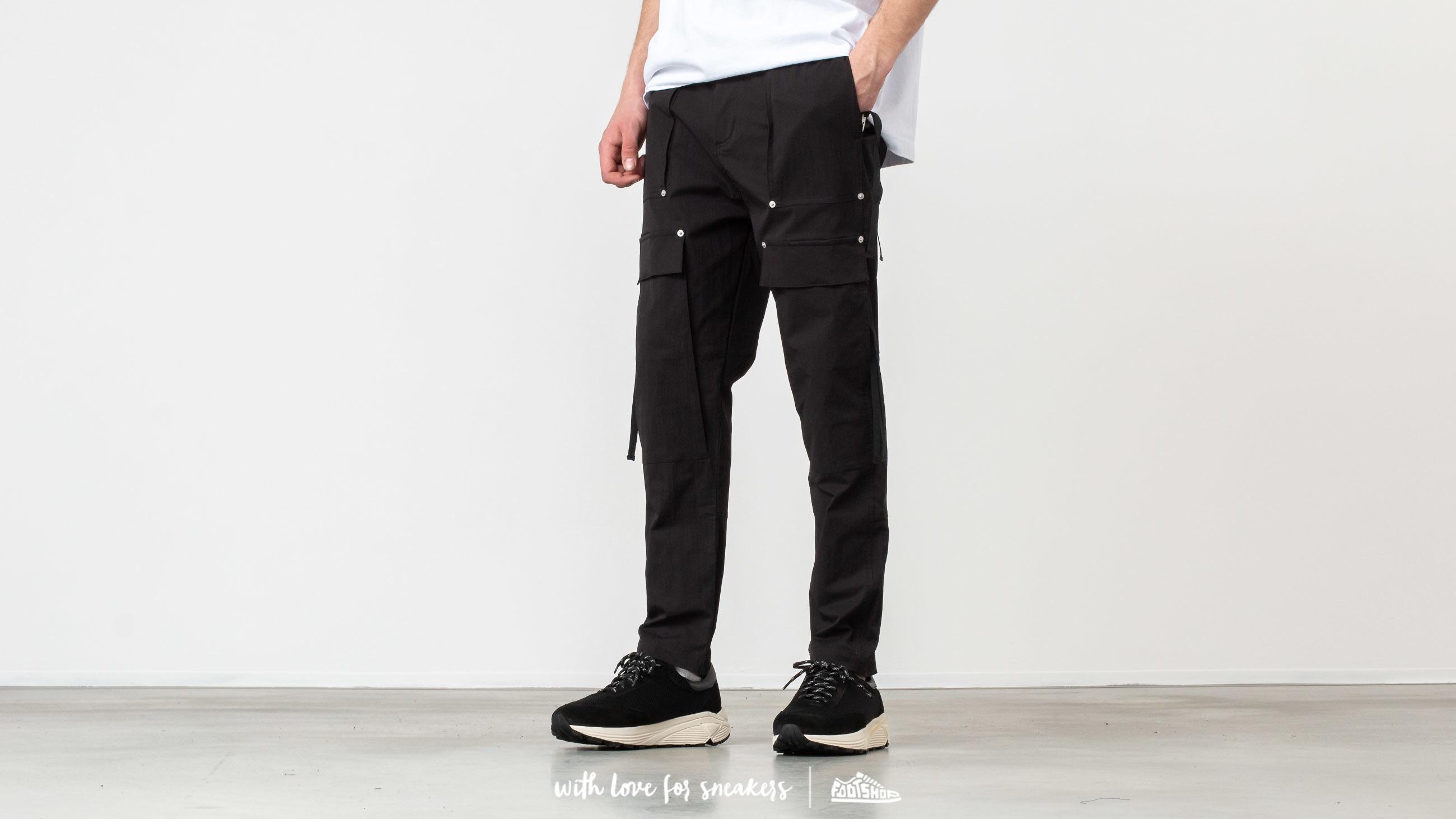 Pantaloni și blugi STAMPD Drill Cargo Crepe Pants Black