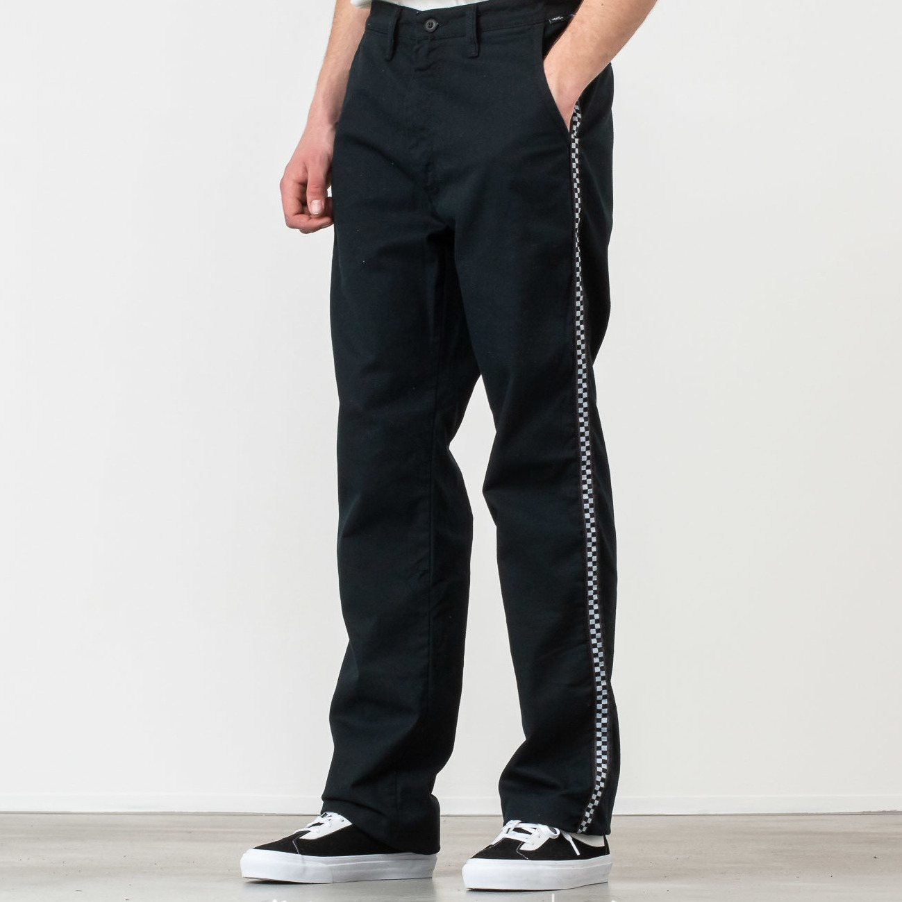 Vans Authentic Chino Pro Taped Pant Black/ Checkerboard 31