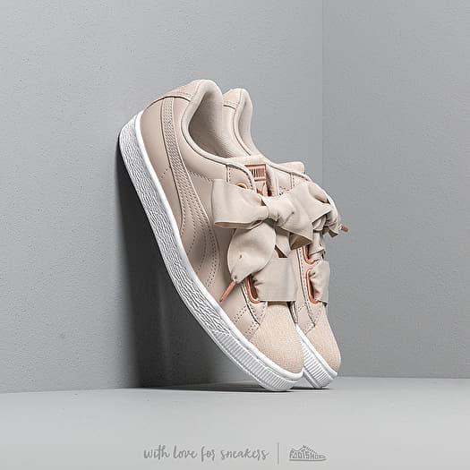 Puma Basket Heart Woven Rose Wn s Silver Gray Puma White