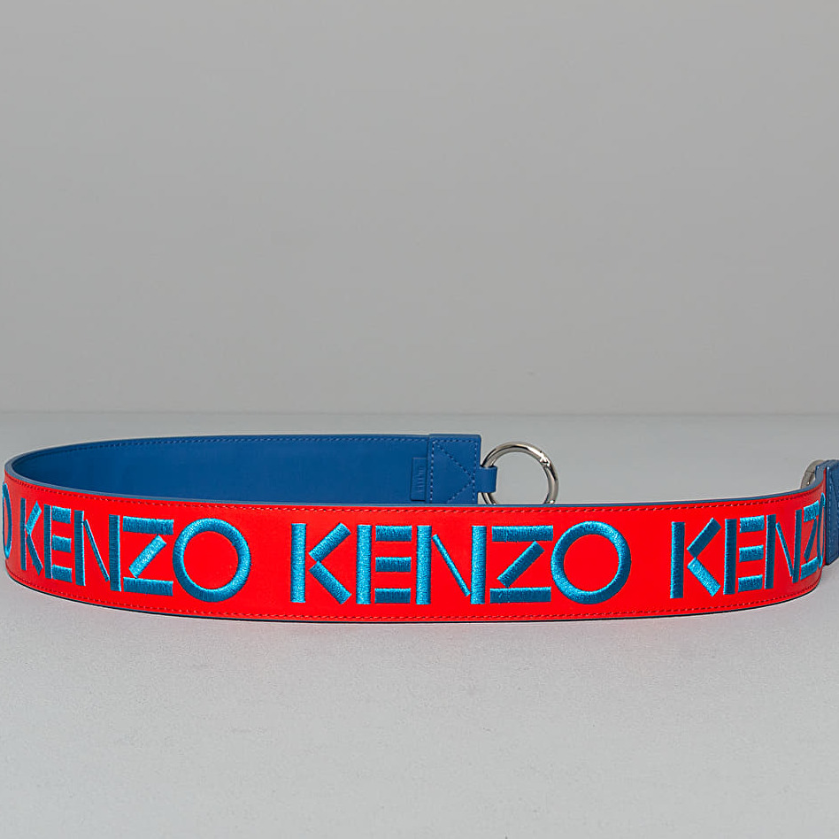 KENZO Logo Shoulder Strap Red Blue