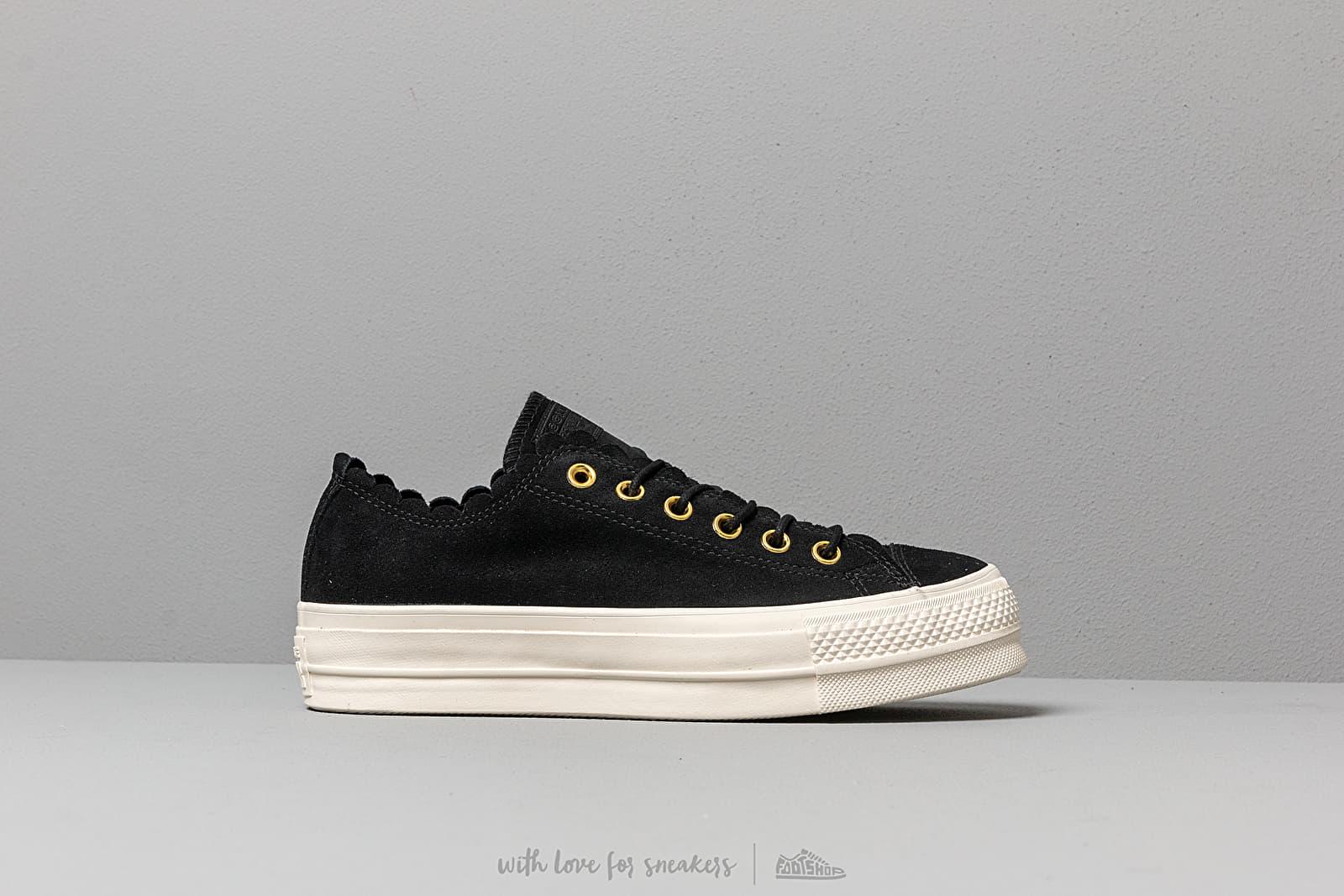 Converse Chuck Taylor AS Lift Scallop Black   Footshop