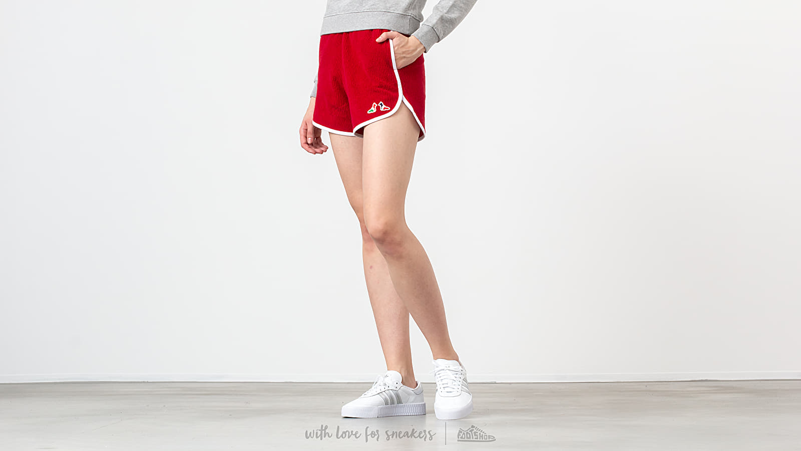 Kratke hlače MAISON KITSUNÉ Terry Cloth Sport Shorts Red