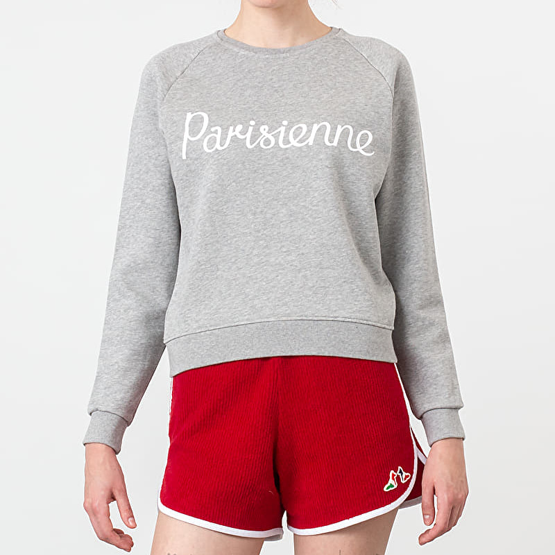 MAISON KITSUNÉ Parisienne Sweatshirt Grey Melange, Gray