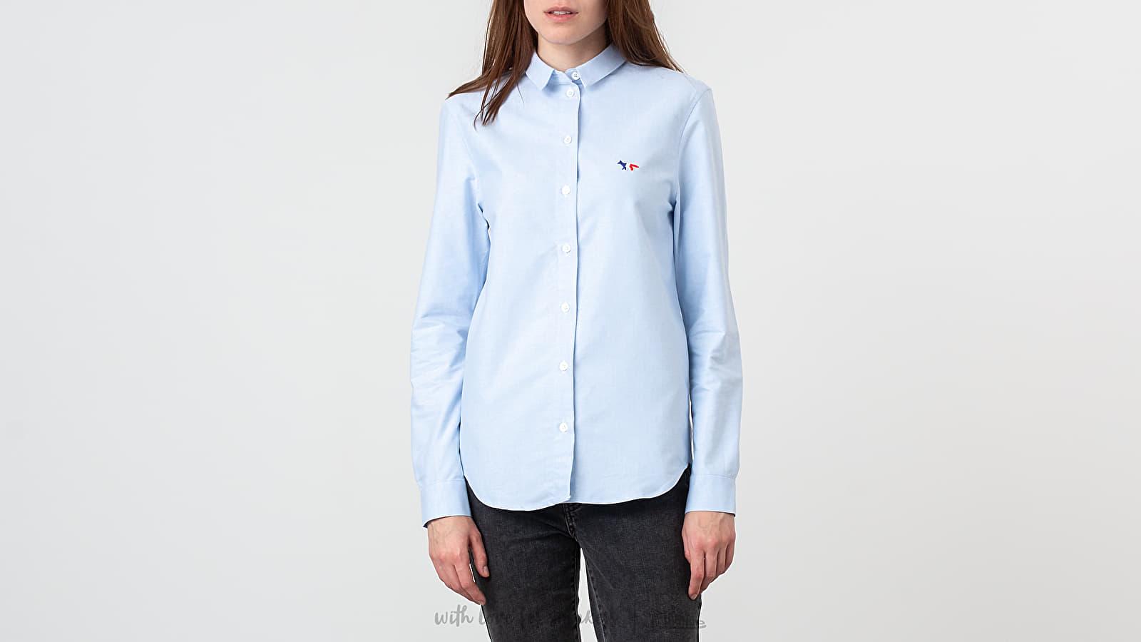 MAISON KITSUNÉ Oxford Tricolor Fox Patch Classic Shirt Light Blue za skvelú cenu 143 € kúpite na Footshop.sk