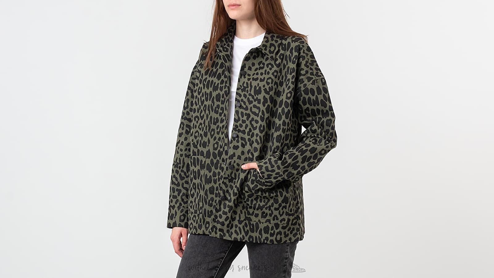 Bundy Lazy Oaf Leopard Chore Jacket Khaki