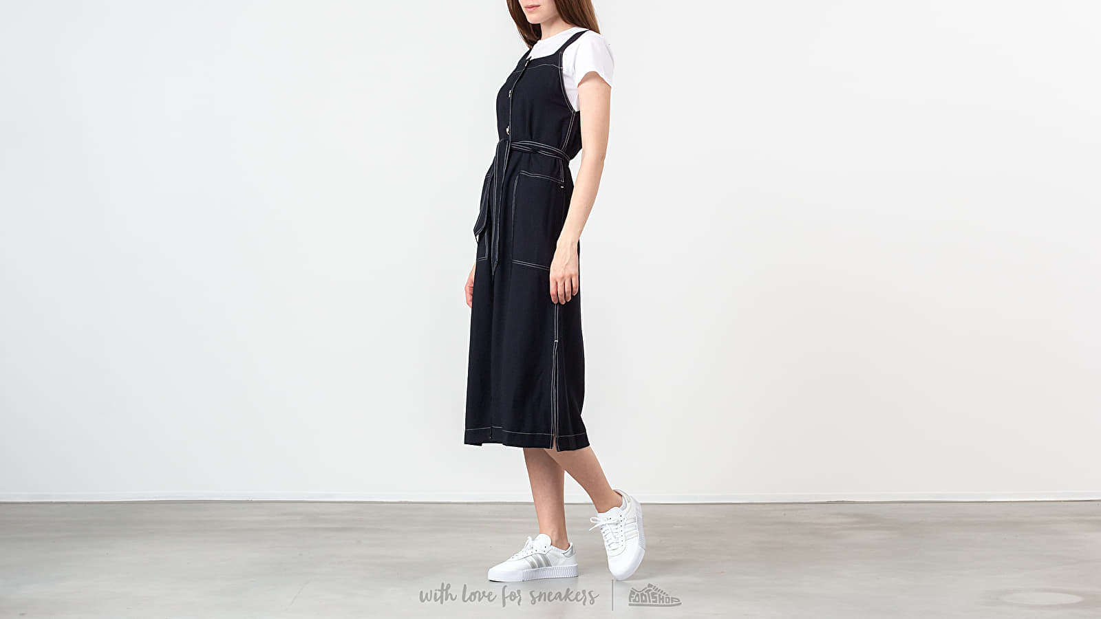 Robes WOOD WOOD Charlotte Dress Navy