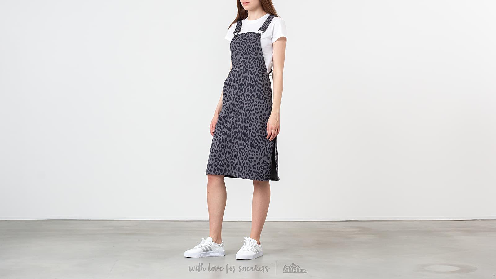 Vestido Lazy Oaf Leopard Pinafore Dress Grey