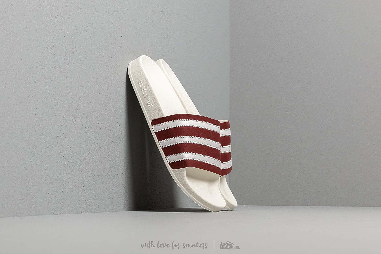 adidas Adilette Core Burgundy/ Ftw White/ Off White za skvelú cenu 37 € kúpite na Footshop.sk