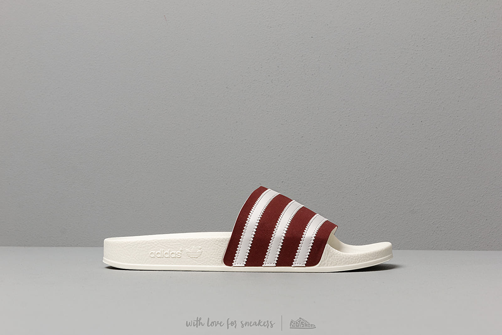 8c1aa92b3ff5 adidas Adilette Core Burgundy  Ftw White  Off White at a great price  43 buy